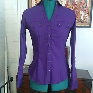 Express Purple Essential Blouse
